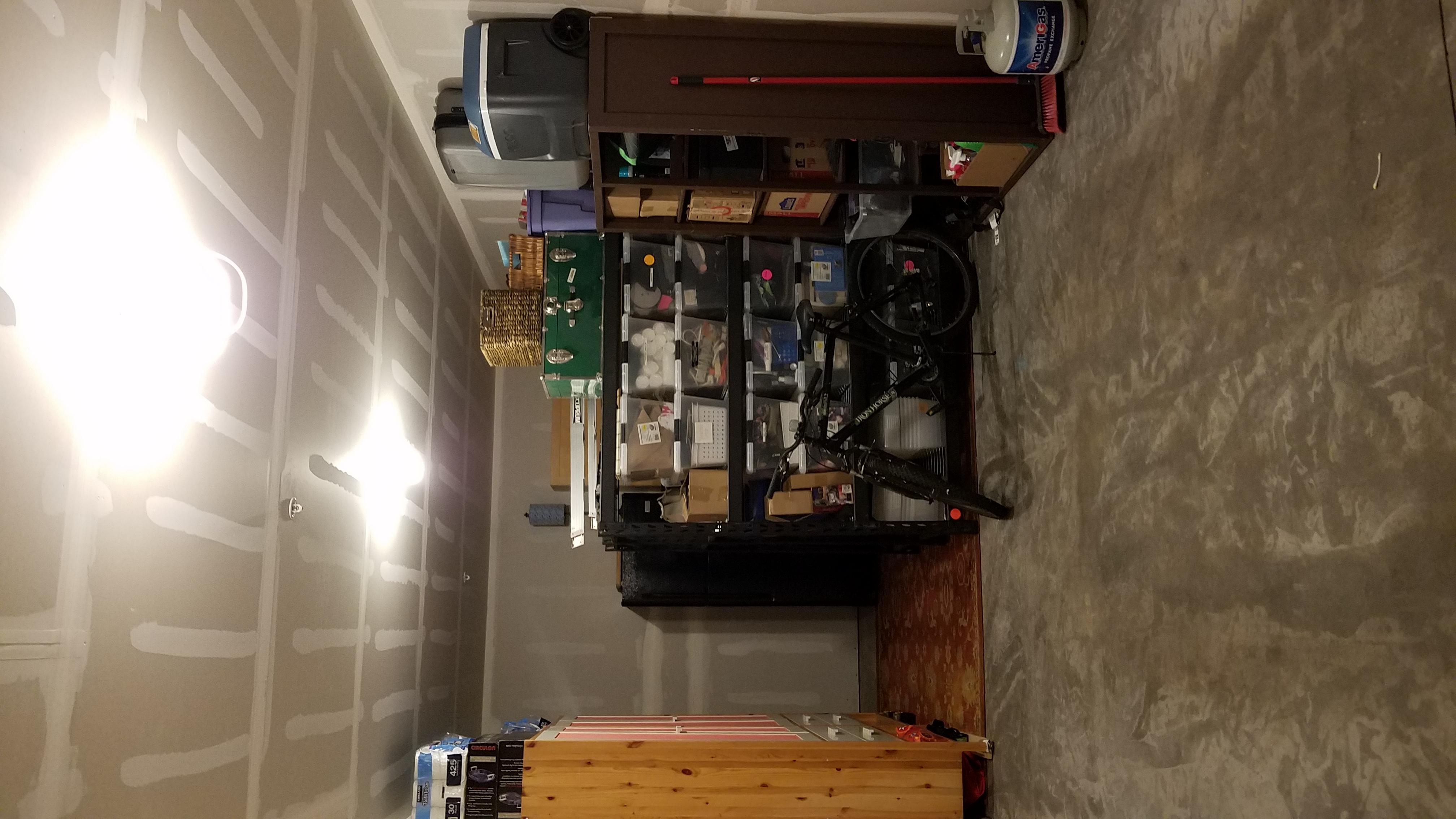 Plenty of storage in this huge oversized garage