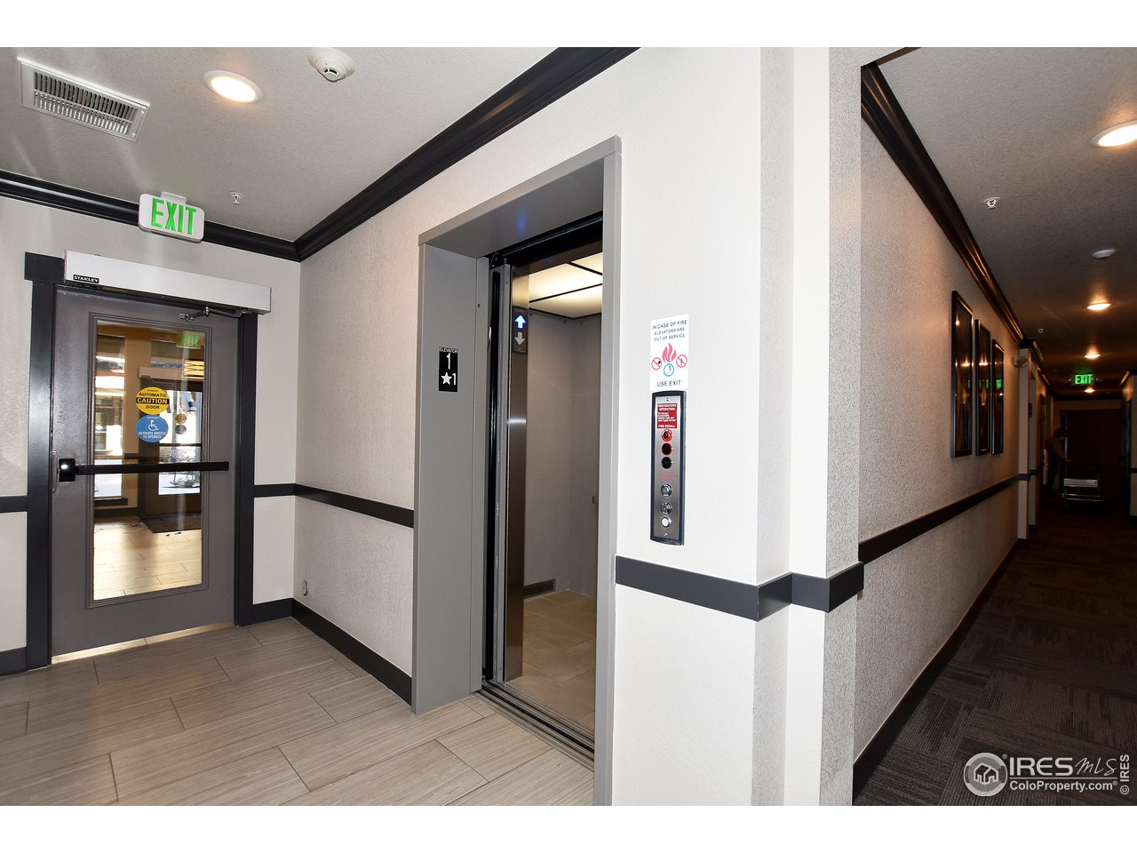 Elevator service up to the unit. Also 2 back secured stairwells for added convenience in the back of the building