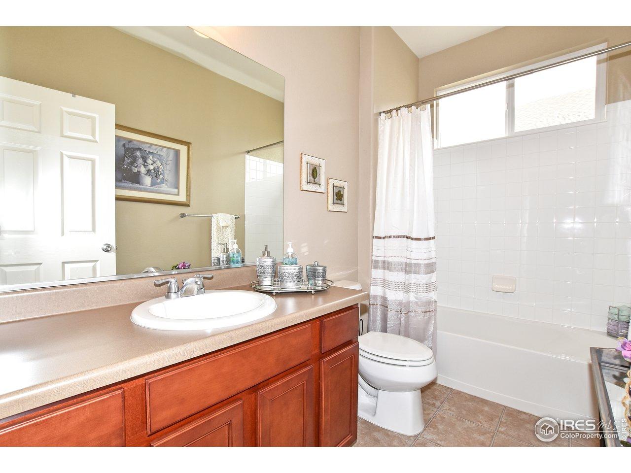 Full bathroom steps from 2nd bedroom