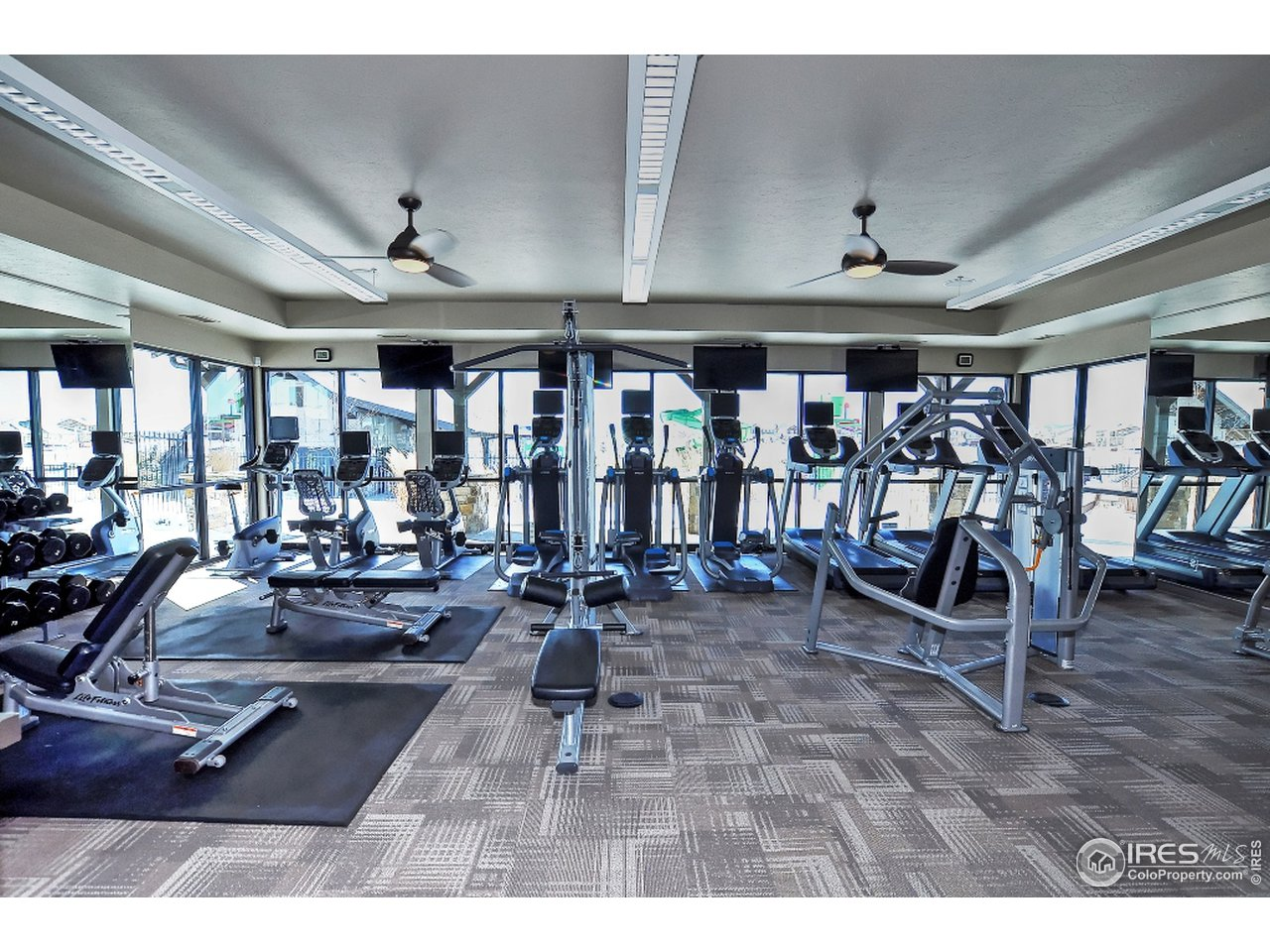 Gym space in clubhouse