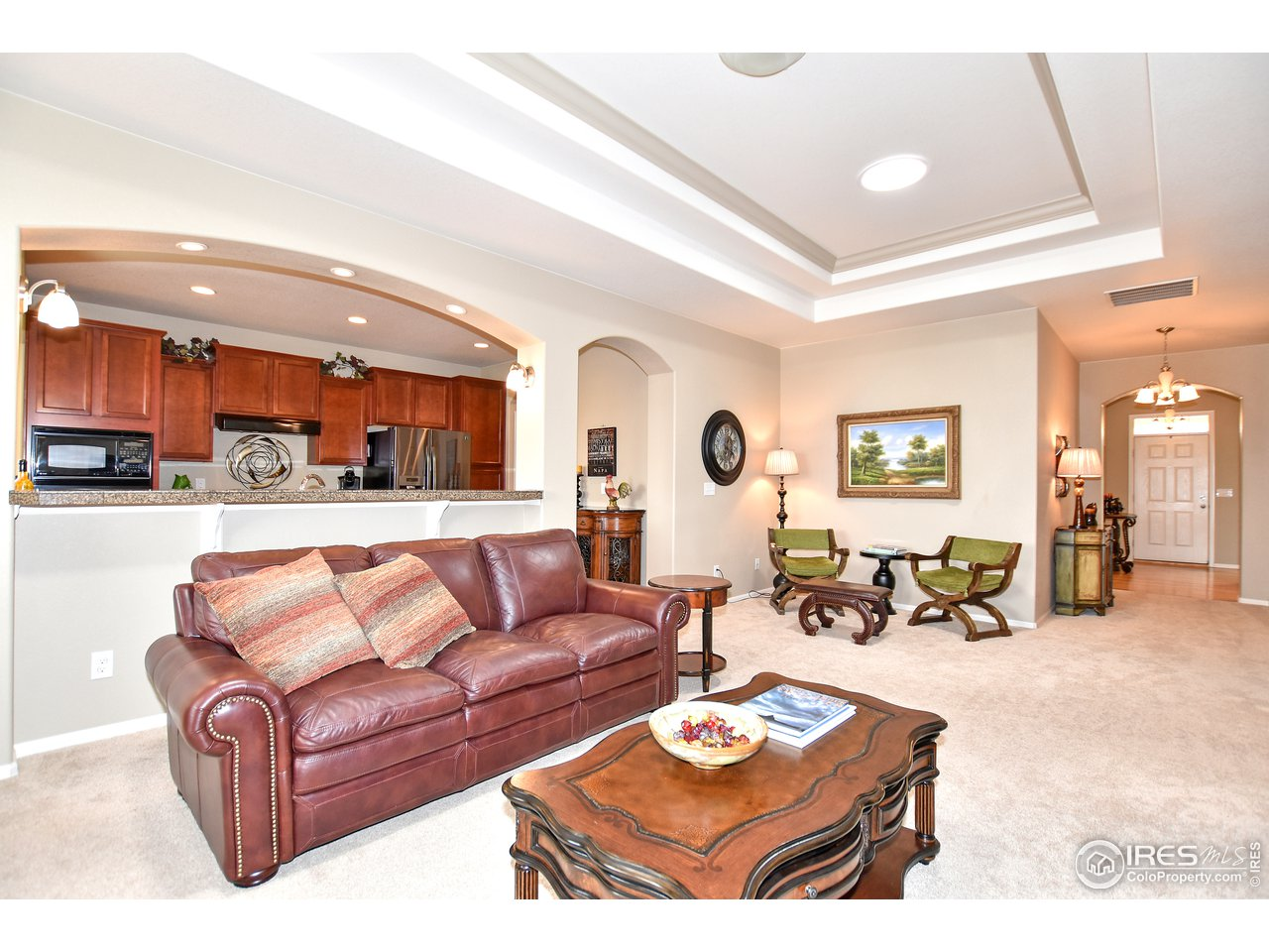 Stunning open floor plan with double tray ceiling