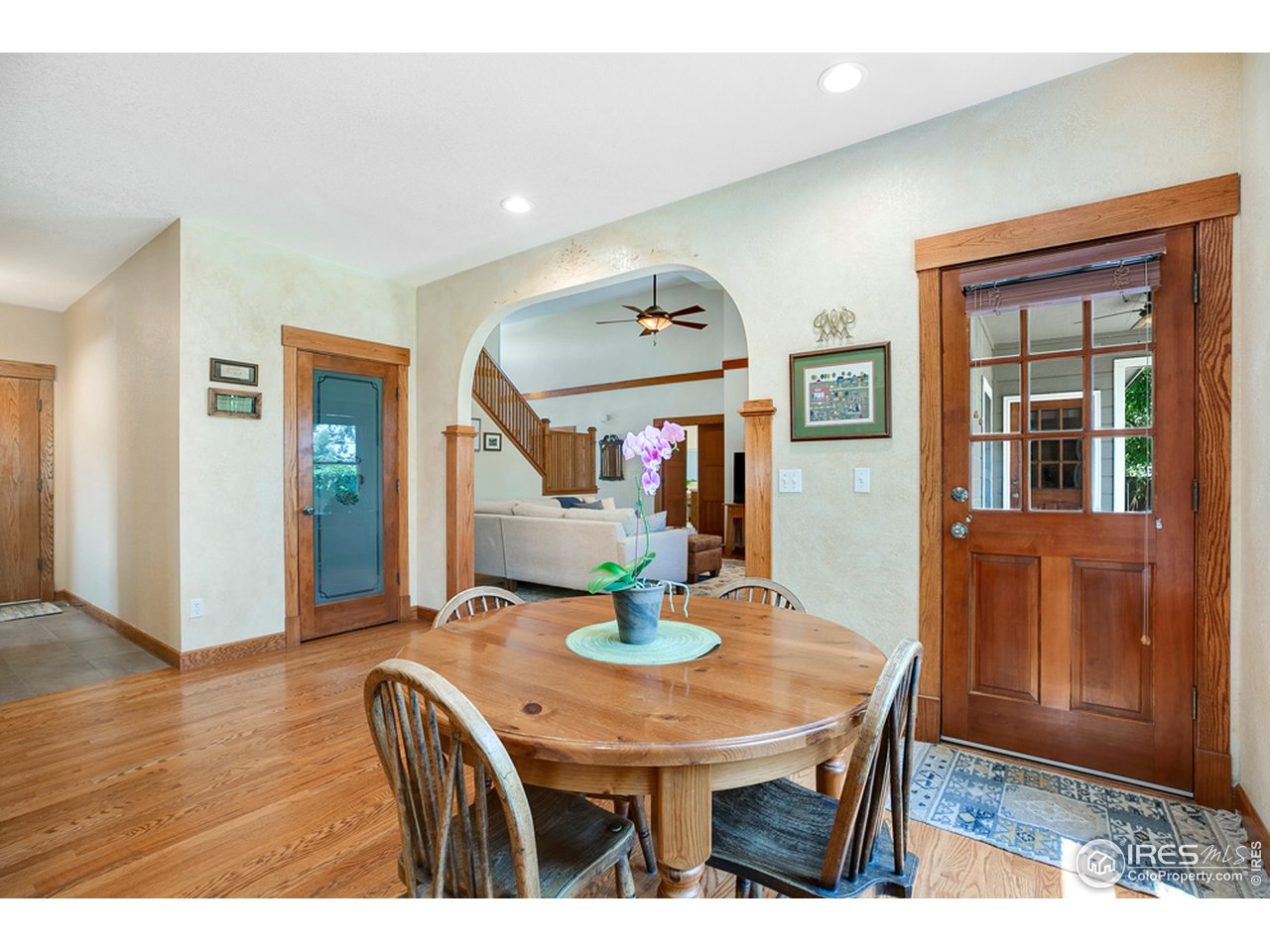 Eat in kitchen w/ door to outdoor dining area.  Don't miss the oversized pantry!
