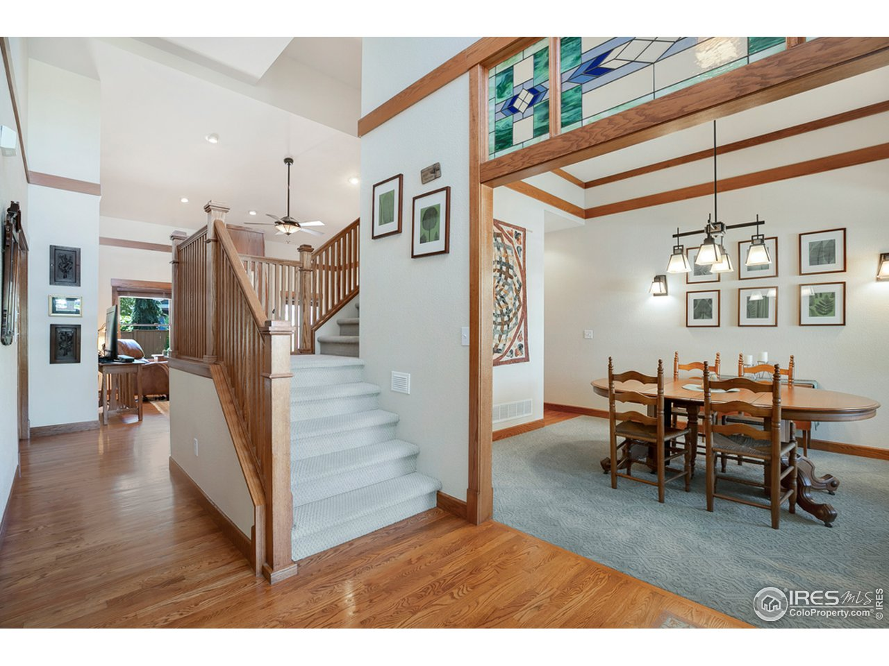 Inviting front entry with beautiful craftsman style details