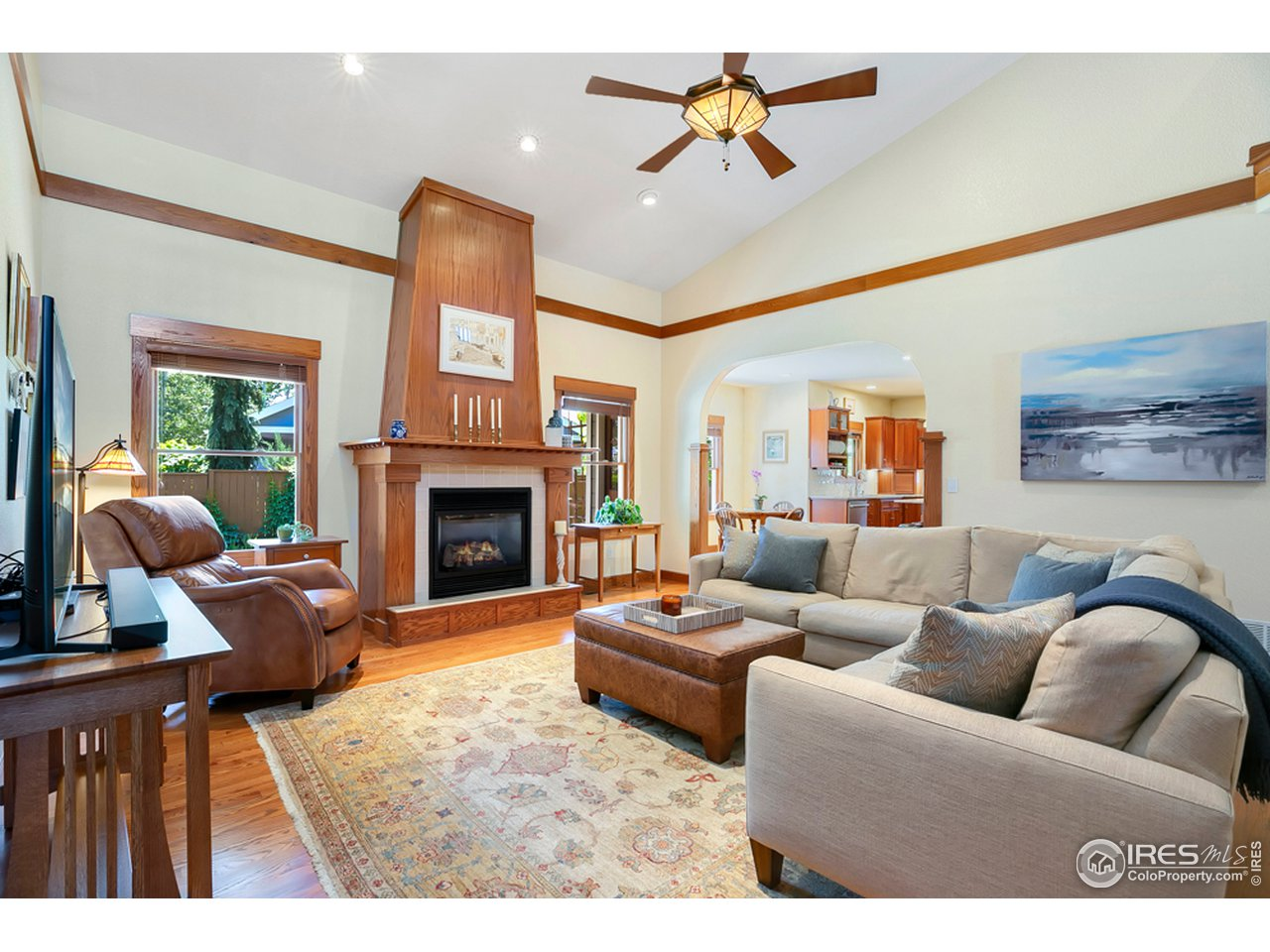 Cozy up to the amazing fireplace in the great room w/ views to the backyard