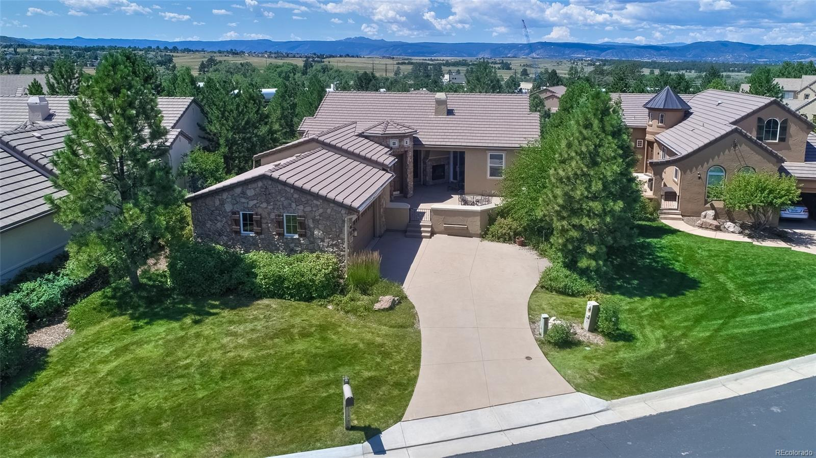 Aerial view of patio home