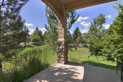 View from back patio - private and plush