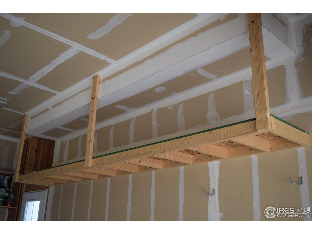 Elevated storage in garage!