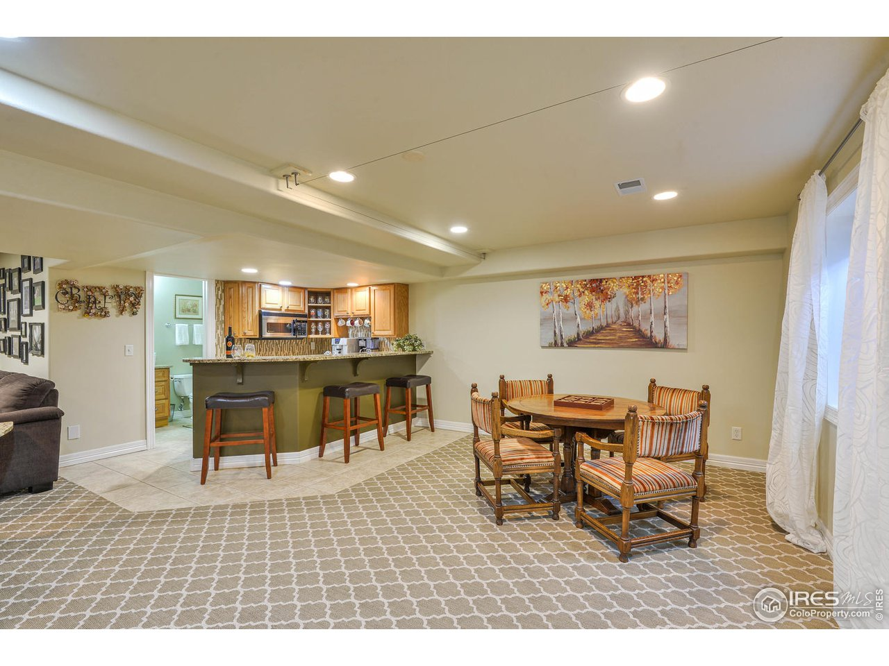 Basement with wet bar