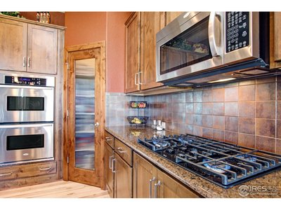 Gas cooktop and two ovens