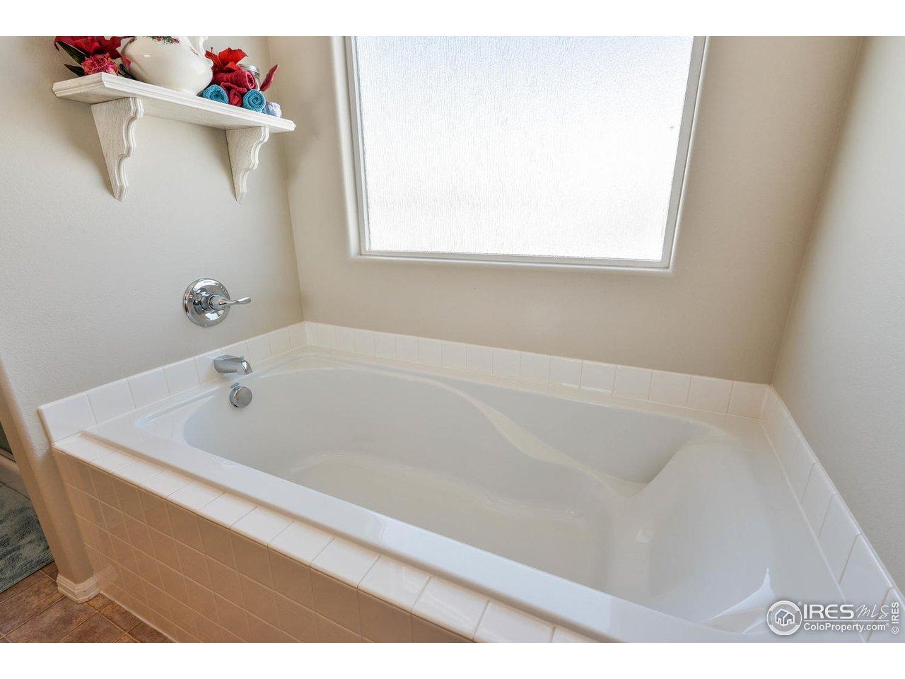 Deep, extra-long 6 foot soaking tub
