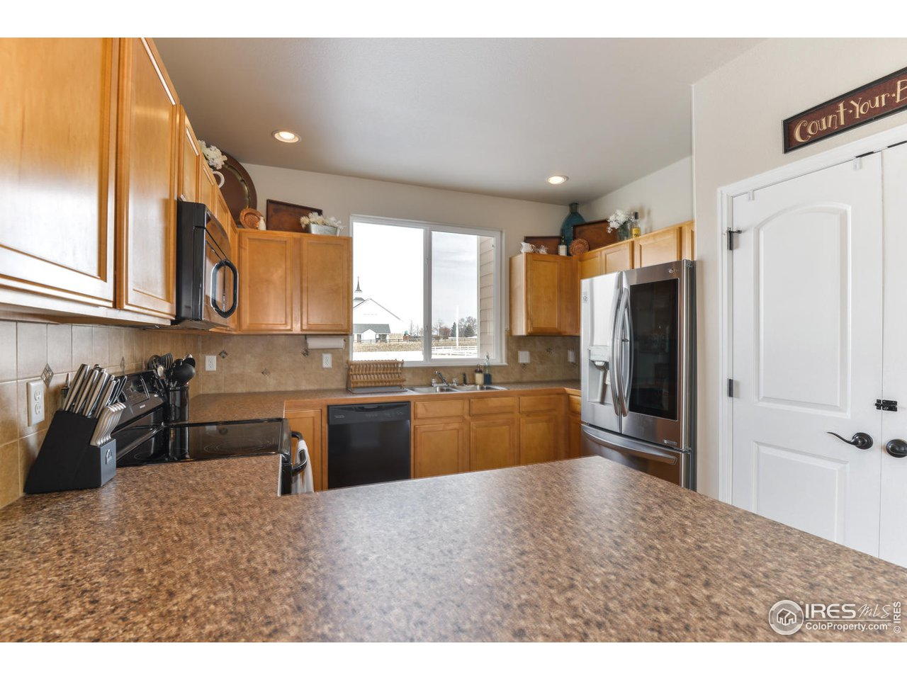 Large, open kitchen with tons of counter space