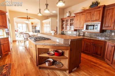Large kitchen open to dining nook and family room