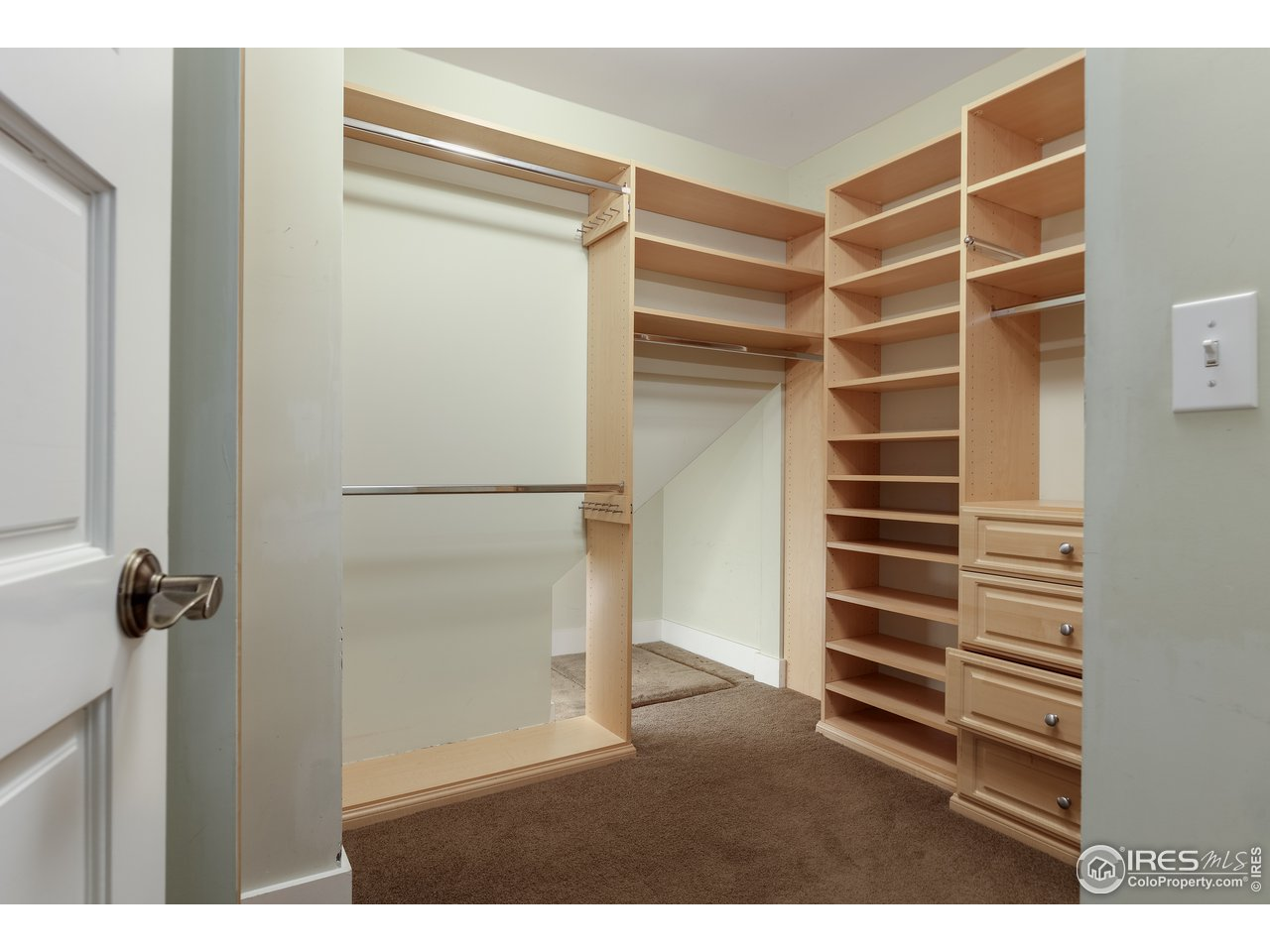 large closet in owner's bedroom