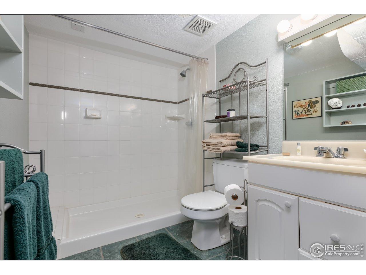 bath in the basement
