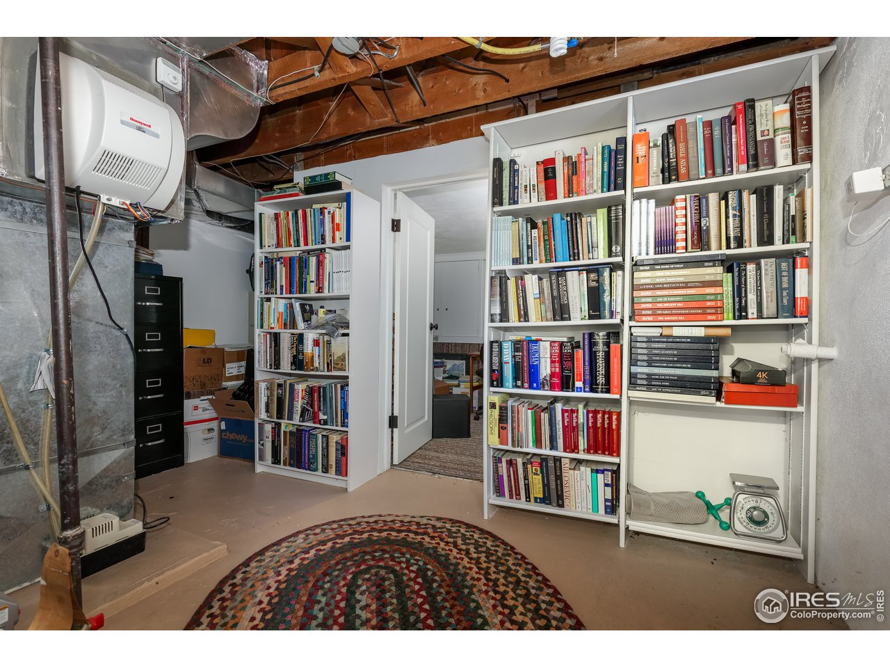 furnace room and additional room in the basement