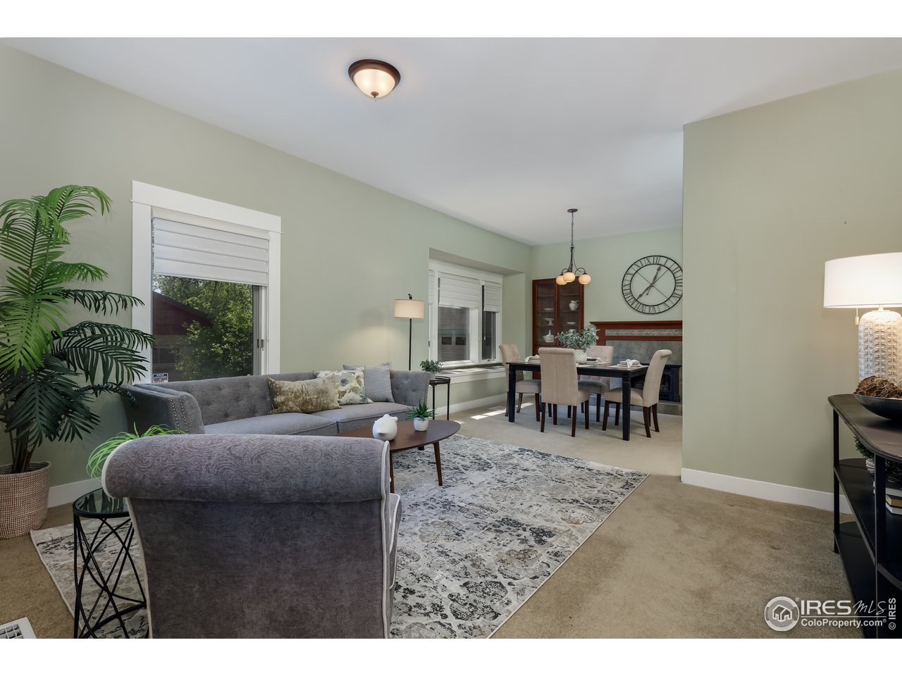 into dining room