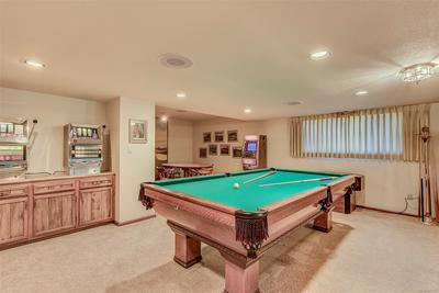 Large pool table area -- make an offer on the pool table!