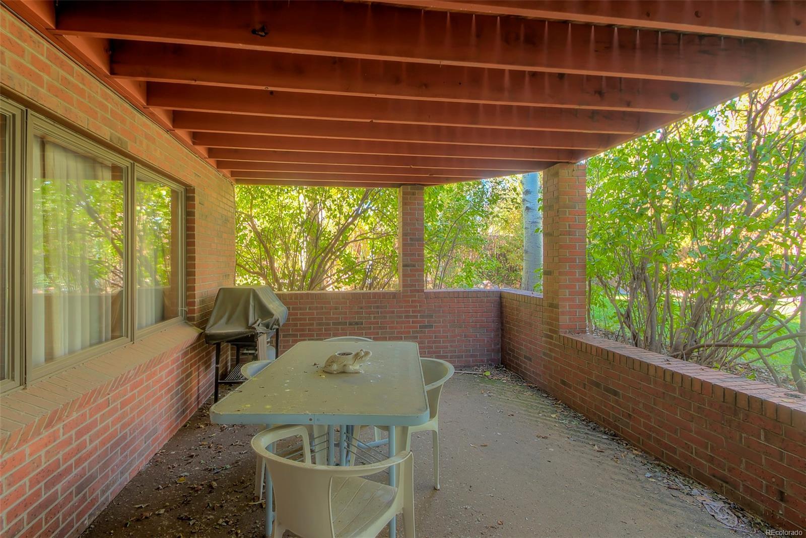 Lower level patio