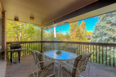 Private deck off kitchen & family room