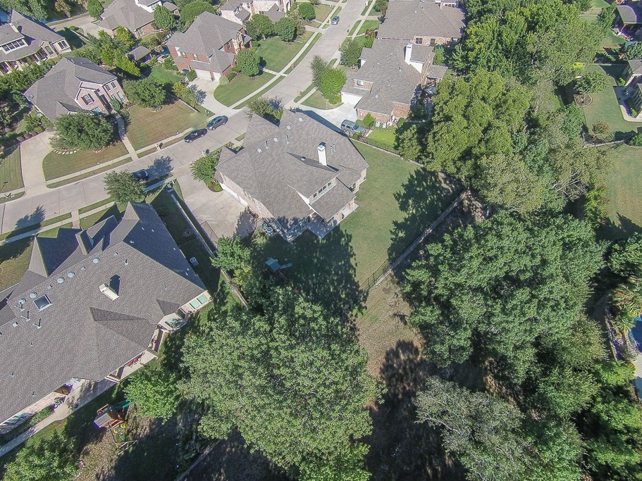 Aerial View Backyard
