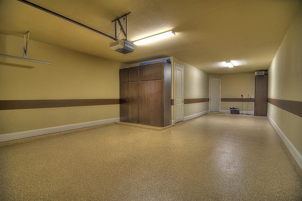 Garage with Custom Cabinets