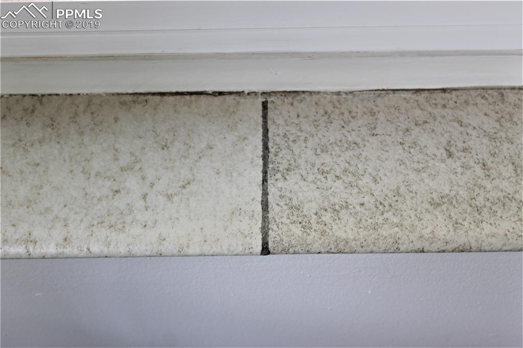 50's terracotta tile on all windows.