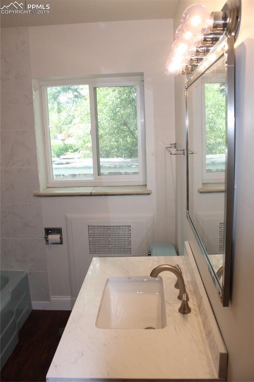 Main floor bathroom is updated.