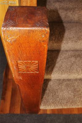 Oak stairway railings await your finishing touches.