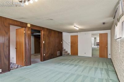 Basement bedroom, utility, garage, and bathroom doors!