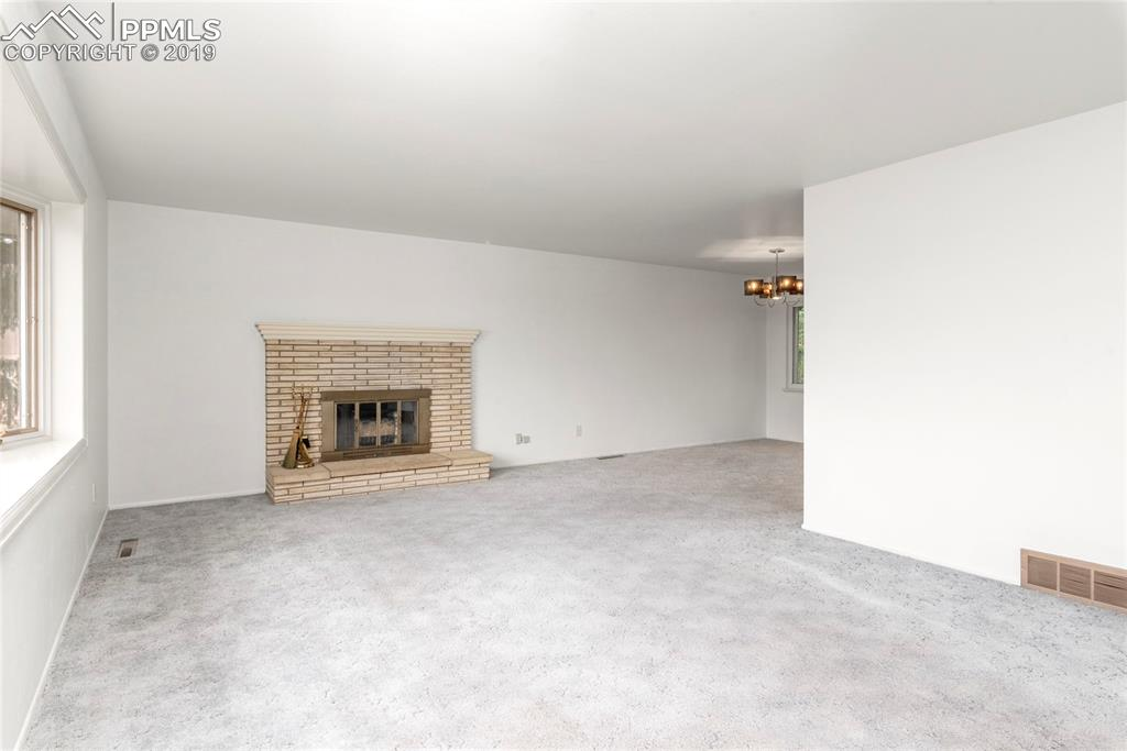 Living room and dining room space!