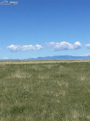 640 Acres begins .5 mile south of Torrence Road and extends to Truckton Road. Lauppe Road entranceWestern Views of Pikes Peak Front Range.