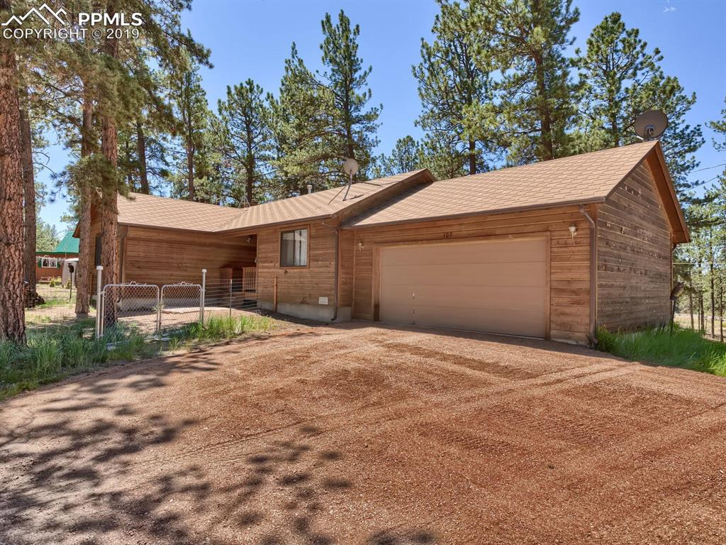 Custom Cedar Home on a half-acre treed lot in Colorado Mountain Estates, Florissant Colorado 80816