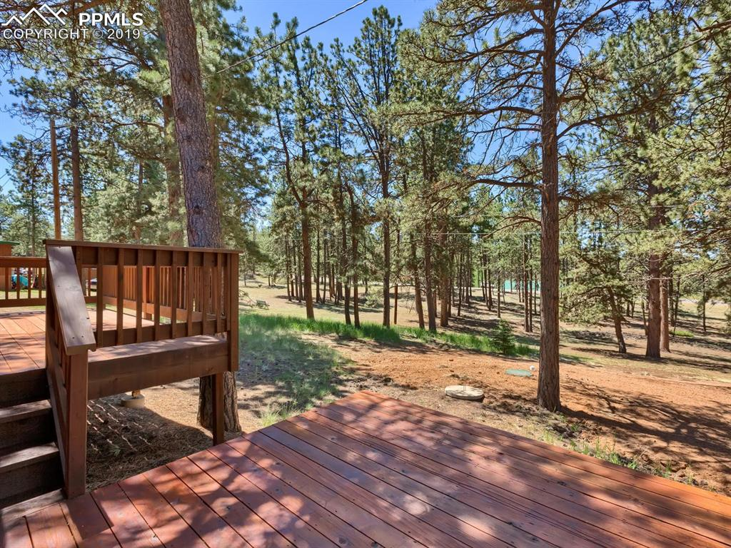 Second deck from living room complete with hot tub hook-up.  Views of whispering pines