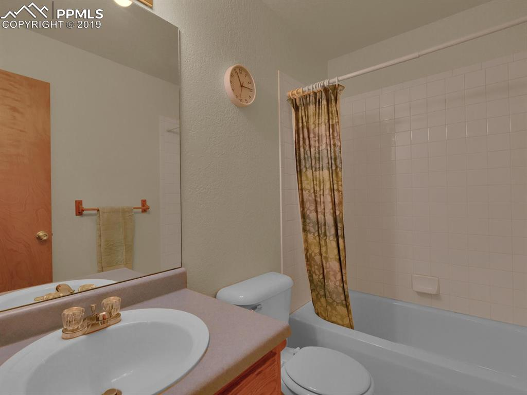 Full Bathroom with tub and shower combination