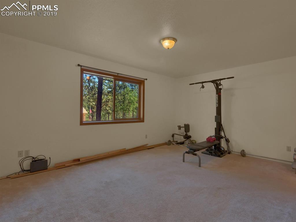LARGE bedroom/ office/workout room with ensuite bathroom