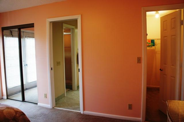 Master Bedroom with sliding and walk in closets
