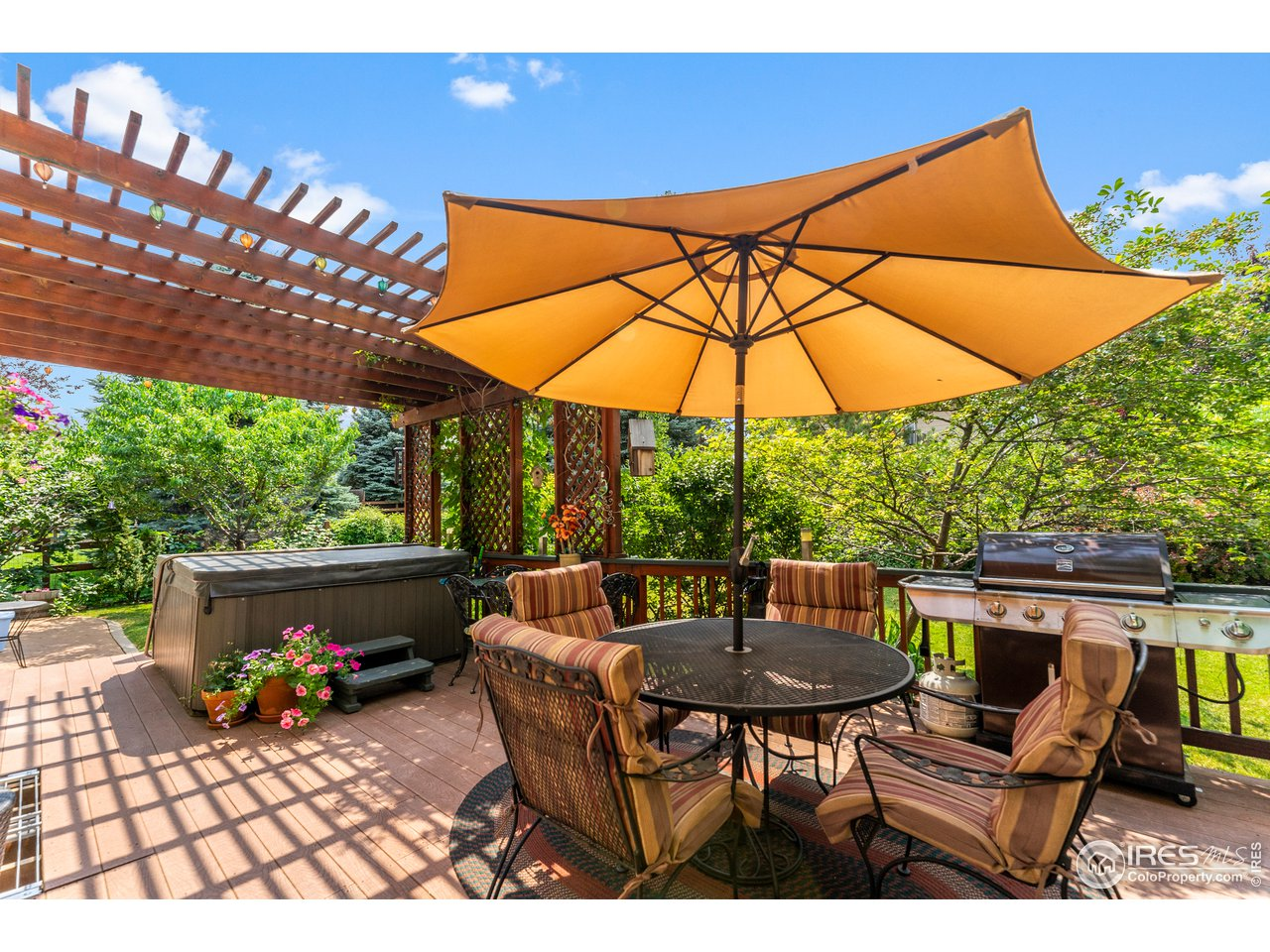 Cozy and idyllic back deck and yard!