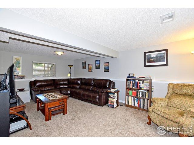 Family room on lower level