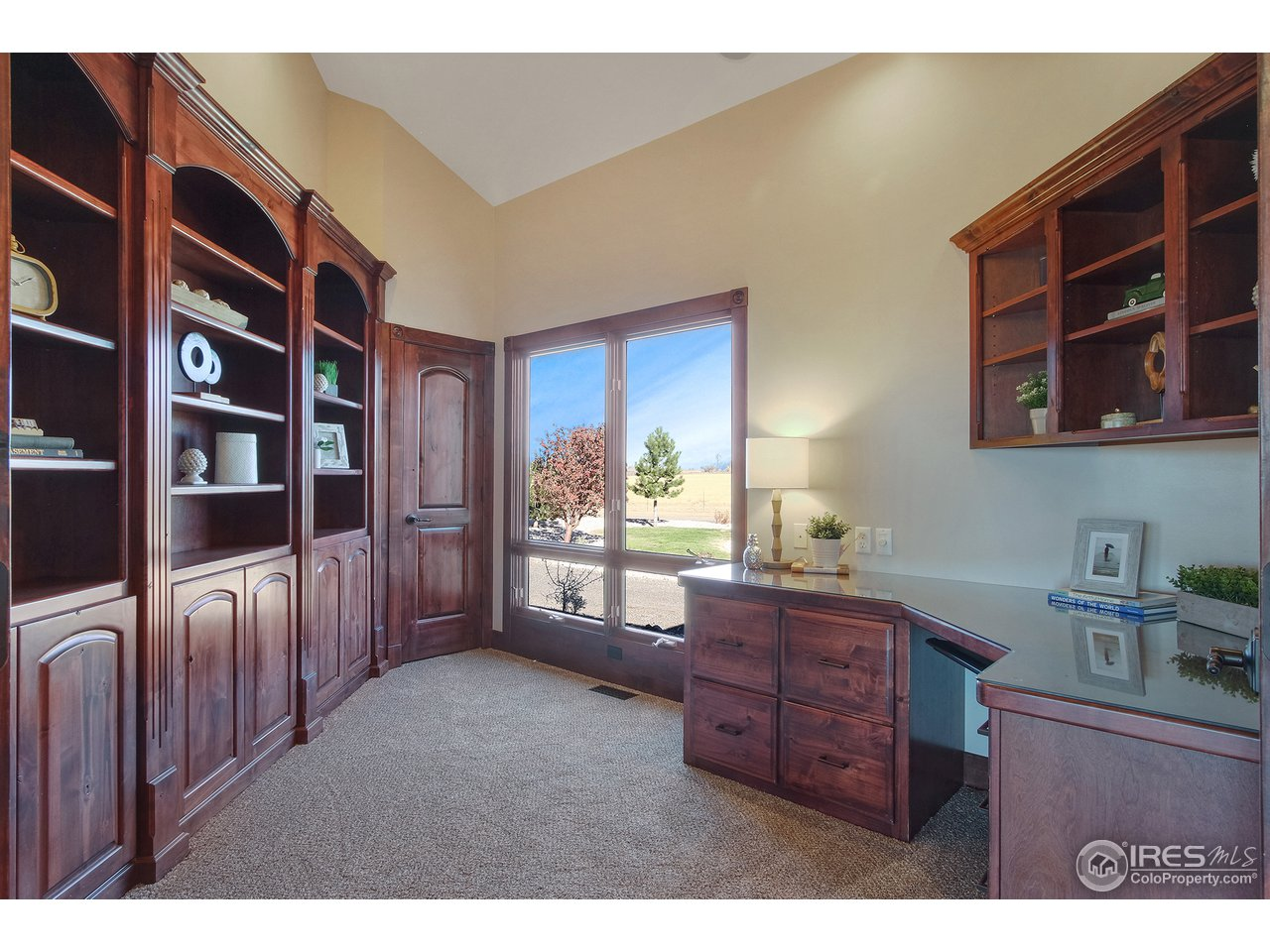 Office with Built-in Cabinets