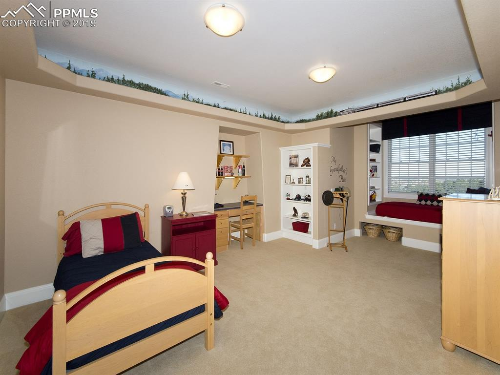 Bedroom 3 - built-ins include Guest Nook and Train shelf