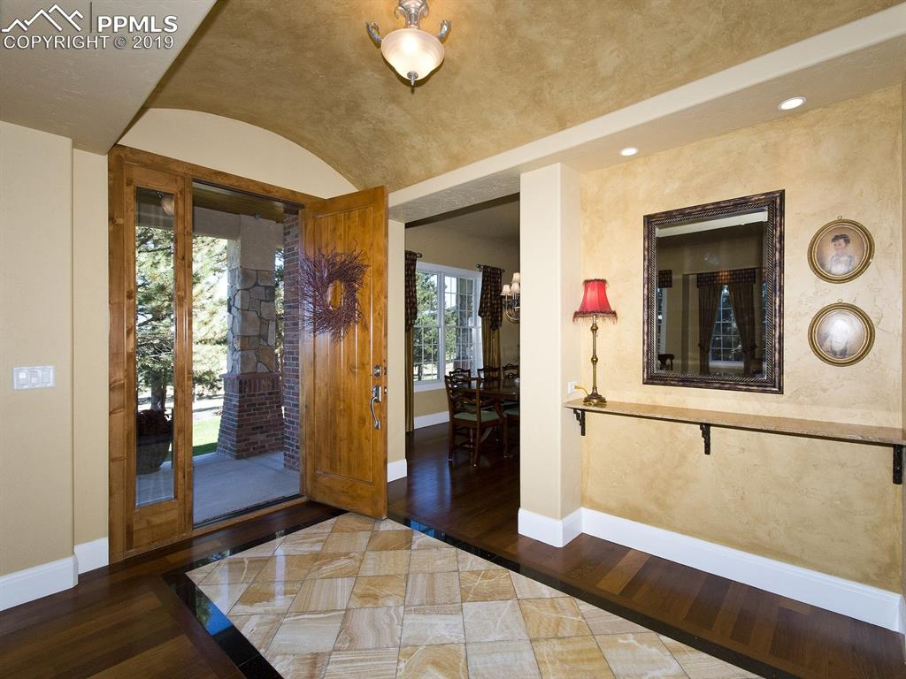 Foyer accented by Barrel Ceiling
