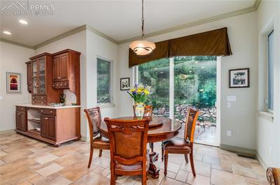 Breakfast Area with Large Buffet opens to back patio!