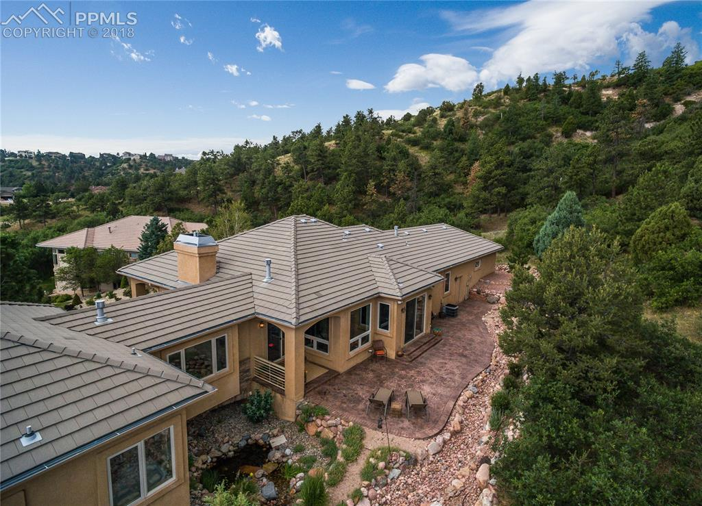 Large Back Patio has access from Kitchen or Living Room to enjoy the hillside!