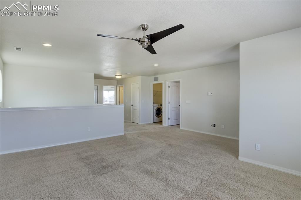 Spacious loft upstairs can be used as additional living/play space or a fantasti