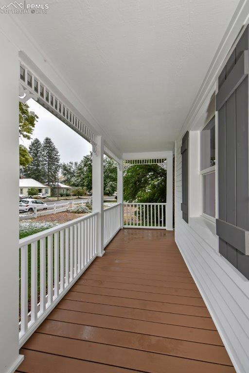 Long and spacious front porch.