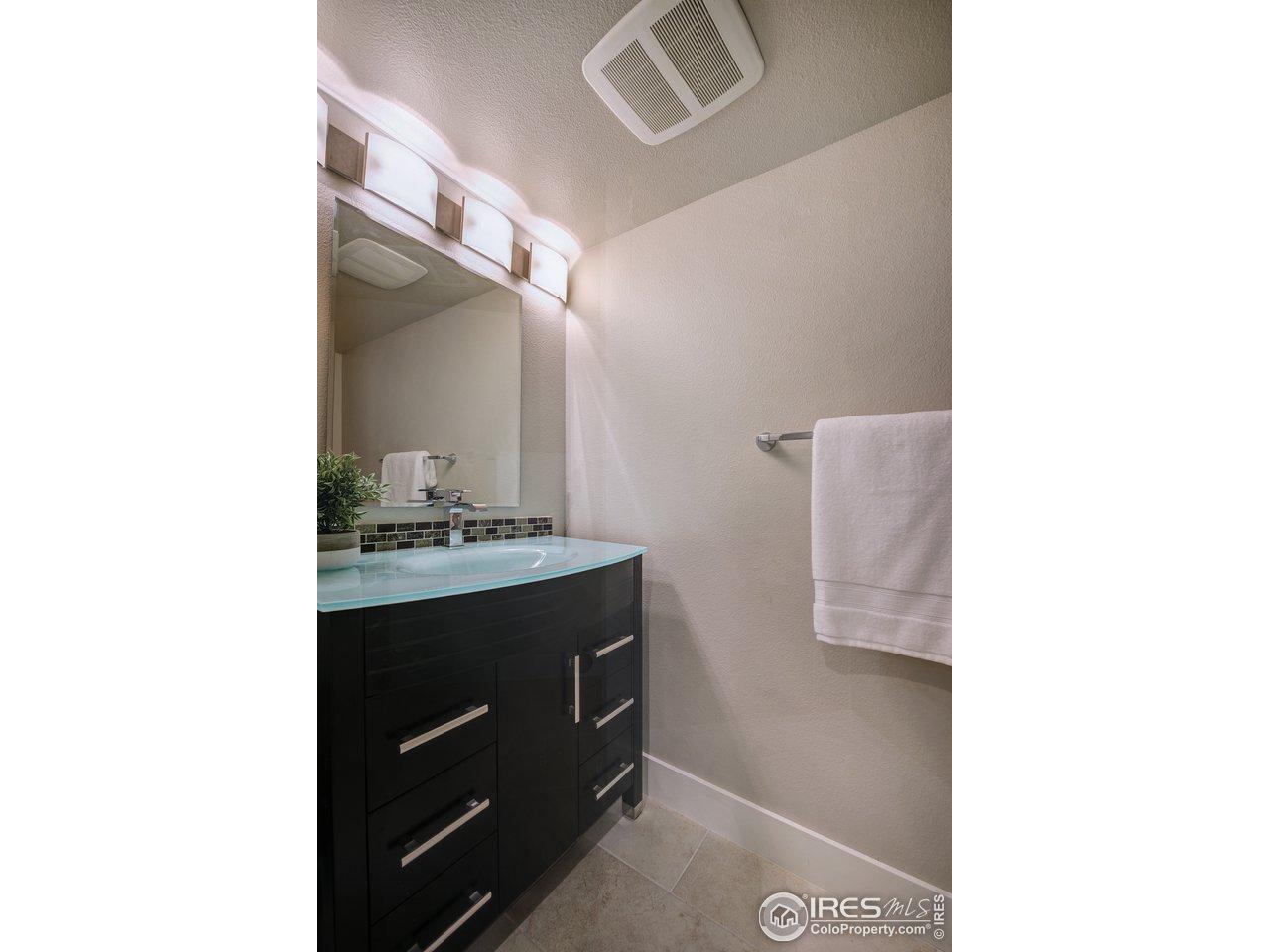 3rd bath in lower level