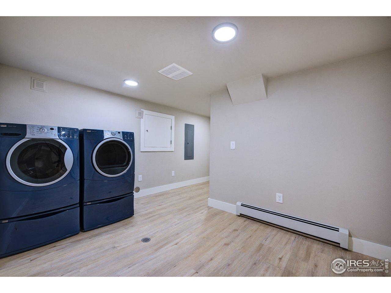 Large finished laundery room