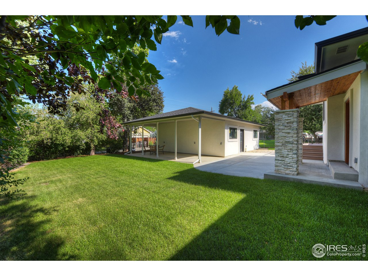 Large lot with mature landscaping