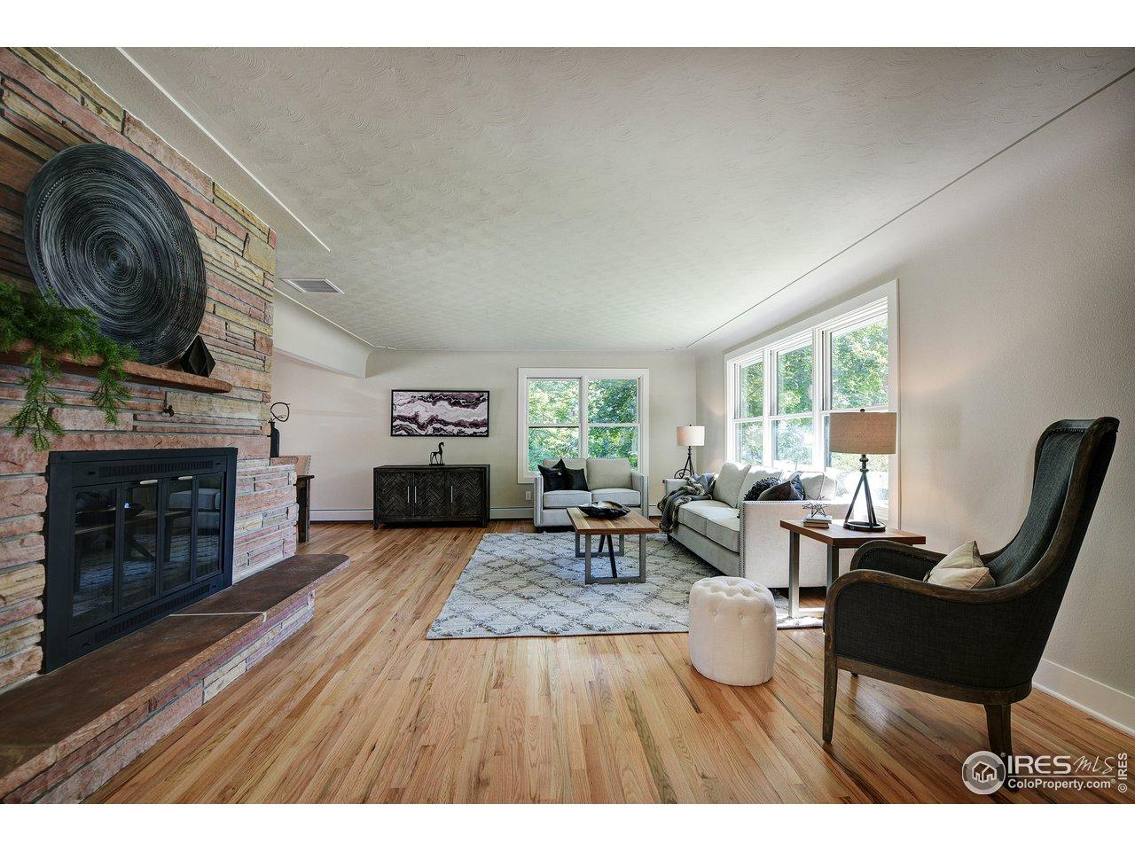 Hardwood floors throughout main floor