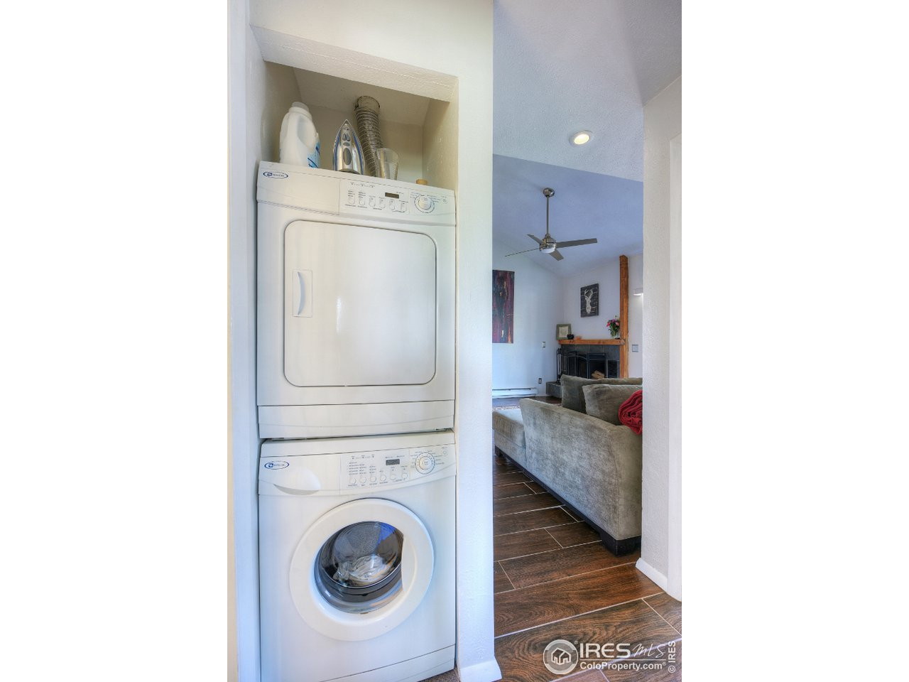 Washer and dryer stays with unit.